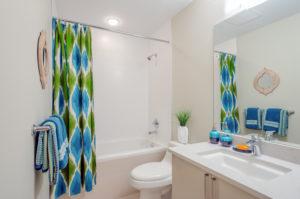Interior design of a spacious and elegant bathroom